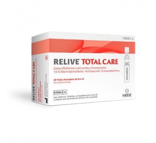 Relive total care gotas oftalmicas esteril (0.4 ml 20 monodosis)