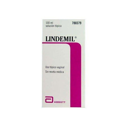 LINDEMIL 6 mg/ml + 80 mg/ml SOLUCION VAGINAL , 1 frasco de 100 ml