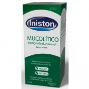 INISTON MUCOLITICO 50 mg/ml SOLUCION ORAL , 1 frasco de 200 ml