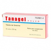 TANAGEL 250 mg POLVO PARA SUSPENSION ORAL , 20 sobres