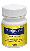 HURRICAINE  200 mg/g GEL BUCAL , 1 frasco de 30 ml